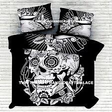 Skull Grateful Dead Psychedelic Duvet Doona Cover Indian Mandala Blanket Quilt