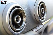 AUDI A3 S3 RS3 8V CARBON Ringe für Luftdüsen Belüftungsdüsen NEU