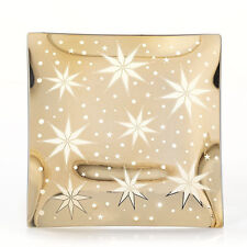 YANKEE CANDLE SHIMMERING GOLD STAR HOLIDAY CANDLE PLATE NEW CHRISTMAS