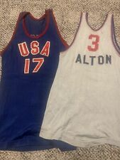 1950's Volleyball Basketball Game Used USA Wilson Jersey Olympics Fivb PanAm LOT
