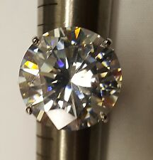 50 ct Round Ring from Dallas Russian CZ  Imitation Moissanite Simulant SS