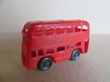 87H Jouet Ancien Plastique Bus Londres Double Decker 566A L 9 cm