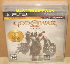 God of War Saga Collection (Sony PlayStation 3, 2012) PS3 Black Label New Sealed