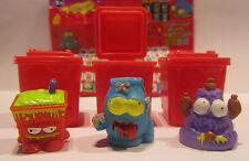 3 figuras * Trash Pack * serie 4 * lazos de basura * Preziosi * nuevo (w52)