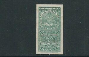HONDURAS 1927 REVENUE, RENTA de TIMBRE 1 item looks UNUSED without GUM