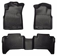 05-2015 Toyota Tacoma Double Cab Black Husky Liners WeatherBeater Floor Mat Set