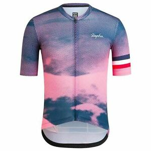 RAPHA Men's Pink Blue Short Sleeve Limited Edition France Cycling Jersey S BNWT