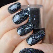 Holographic Black Nail Art Glitter DIY Manicure Supplies Laser Powder Dust N49