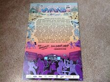 Bonnaroo Music and Arts Festival 2012 Poster Mint Condition