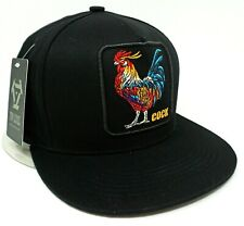 ROOSTER Snapback Cap Hat COCK FIGHT Adult OSFM 100% Cotton NWT