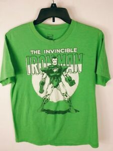 The Invincible Ironman Boy's T-Shirt XL Graphic Short Sleeve Green