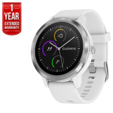 Garmin Vivoactive 3 GPS Fitness Smartwatch (White & Stainless) + Extended Warran