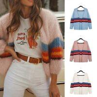 Sleeve Knitted Women Coat Long Tops Loose Casual Outwear Jacket Sweater Cardigan