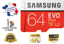 Carte Mémoire Samsung Evo Plus Micro sd 64 Go SDXC/SDHC+ Adaptateur