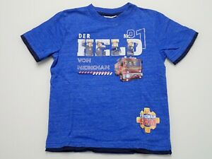 Feuerwehrmann Sam T - Shirt blau meliert 116
