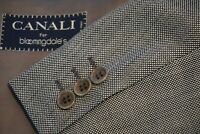 Canali Gray Nailhead S120s Wool Sport Coat Jacket Sz 46L