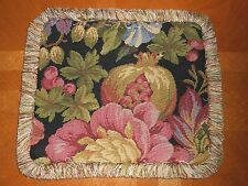 Throw pillow cover woven tapestry fabric fruits floral multicolor Custom new ONE