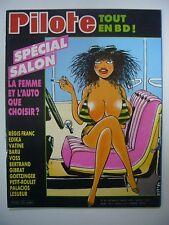 PILOTE N° 125 SPECIAL SALON LA FEMME ET L'AUTO QUE CHOISIR ? 1984 DARGAUD TBE