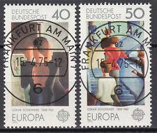 BRD 1975 Mi. Nr. 840-841 gestempelt FRANKFURT AM MAIN , mit Gummi TOP! (15073)