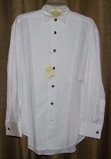 Stubbs Western Wear Cowboy Tuxedo Style Long Sleeve Shirt French Cuff Size M