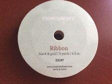Close To My Heart Z3197 Black & Gold Ribbon NIP