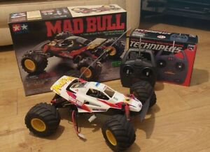 Vintage Tamiya Mad Bull 1/10 scale RC with Techniplus Radio and batteries