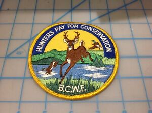 B.C.W.F. British Columbia Wildlife Federation Hunters Pay for Conservation Patch