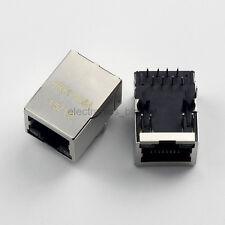 5pcs RJ45 HR911105A Network Transformer Jack connector /w LED for HanRun