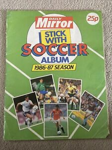 Daily Mirror 1986-87 Sticker Album 100% Complete Full Stick With Soccer Album