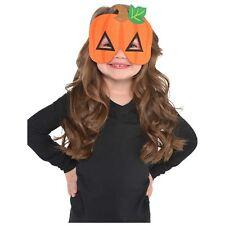 Pumpkin Felt Mask Childrens Halloween Fancy Dress Costume Accessories