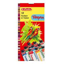 Herlitz Temperafarbe 10 Tuben Temperafarben Malfarben tempera paint 10 tubes