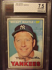 1967 Topps #150 - Mickey Mantle BVG 7.5 Hall of Fame Near Mint+ Great Centering