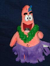 "10"" stuffed Nanco plush Sponge Bob Hawaiian Dancer PATRICK STARFISH 2004"