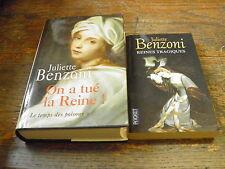 lot de 2 livres de Juliette Benzoni Reines tragiques et On a tué la reine !