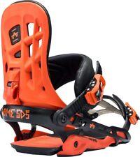New 2018 Rome 390 Boss Snowboard Bindings Size S/M Orange