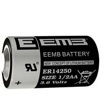 New 3.6V 1200mAh ER14250 LI-SOCl2 1/2AA Battery Non-rechargeable