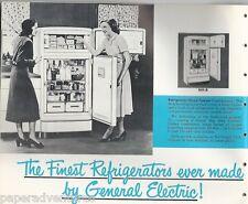 1950 GE GENERAL ELECTRIC Kitchen Appliances Refrigerator Range W/D VTG Catalog