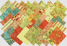 "Rare APRIL CORNELL POETRY ~ Moda 4"" Quilt Fabric Squares ~ 40 different fabrics!"