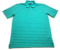 Brooks Brothers Mens Blue Striped Short Sleeve Polo Shirt Size XL