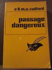 E. & M.A. Radford: Passage dangereux /Le Masque N°1170 Champs-Elysées