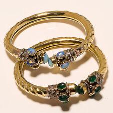 Wholesale 2P] Fashion Tibetan Silver Vintage Solid Brass Cuff Jewellery Kj4