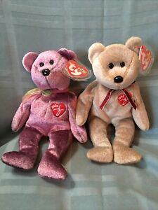 Ty Beanie Baby, 1999 & 2000 Signature Bears, New With Tags