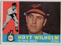 1960 Topps #395 Hoyt Wilhelm EX-EXMT Baltimore Orioles FREE SHIPPING