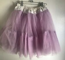 Vintage purple mesh tulle handmade square dance petticoat misses S crinoline