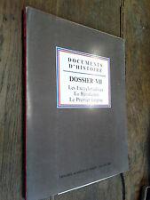 Documents d'histoire les Encyclopédistes La Révolution Le Premier Empire dossier