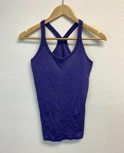 Lululemon Athletica Women's Racerback Tank Top Size 6 Purple Gym Running EUC