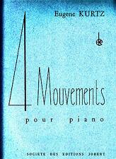 Eugene Kurtz  4 Mouvements pour piano 1951