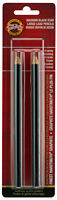 Koh-I-Noor Magnum Black Star Large Lead Pencils Finest Hardtmuth Graphite 2pk