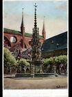 LUBECK (ALLEMAGNE) FONTAINE MONUMENTALE / MARKTBRUNNEN illustrée par G. BOESE