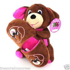 2 Piece Plush Stuffed Animal & Slippers Set ~ Size Large/XL (13-3) ~ NWT